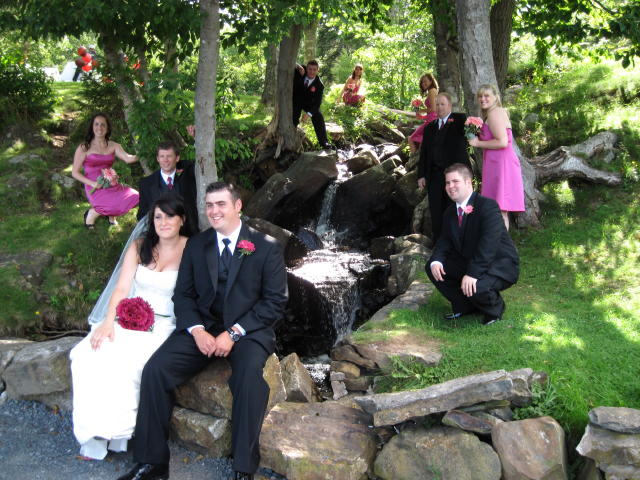 The Bridal Party at Flemming Park in Halifax