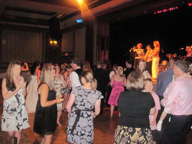 D'Arcy's sister-in-law's band played at the dance.  As you can see, everyone was having a great time!