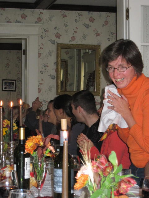 """D'Arcy's sister, Kathleen, started off the """"What I'm Thankful For"""" Circle"""