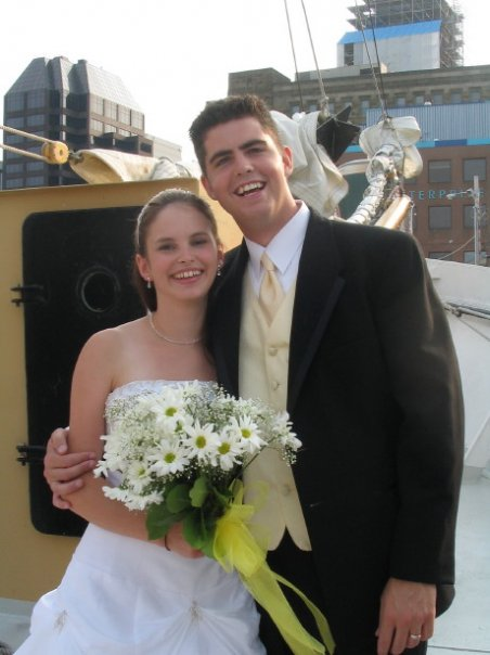 The happy couple at their wedding in 2007.