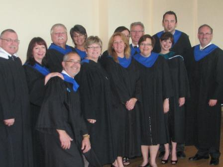 NSCC Pictou Campus' School of Business Faculty. Photo taken before the start of the 2013 Convocation.