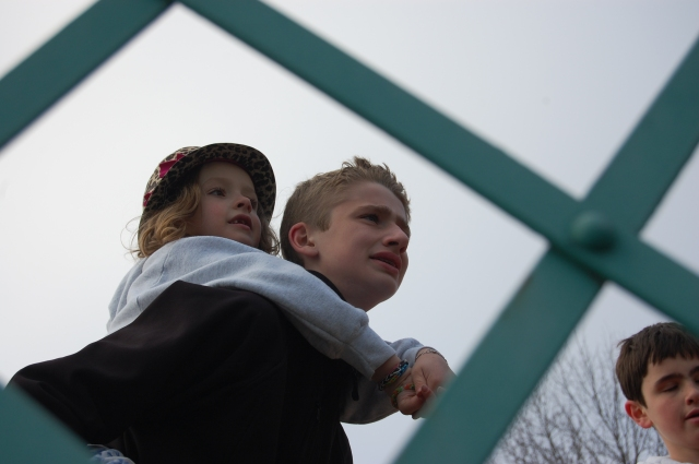 Evan & Olivia taking in the view.