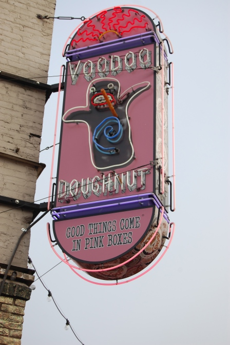 The famous Voodoo Doughnuts store. Sarah said she knew exactly what their tagline means! Yikes!