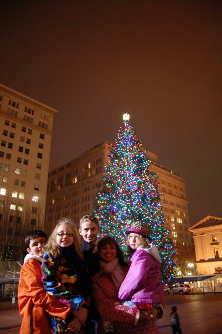The Portland Christmas tree.