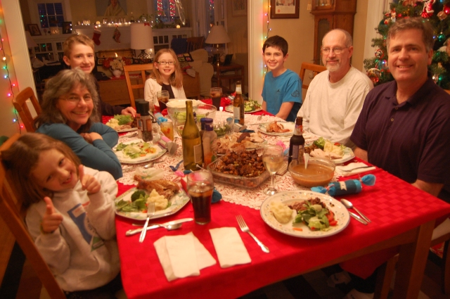 Christmas Dinner in Portland, Oregon
