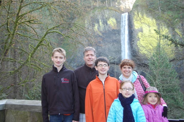 At Latourell Falls, Oregon