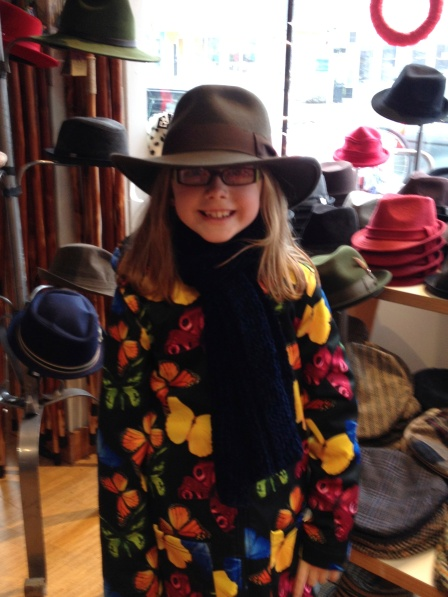 Sarah and her cowgirl hat.