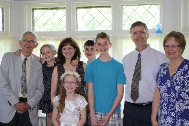 Our family with my parents; June 2013.