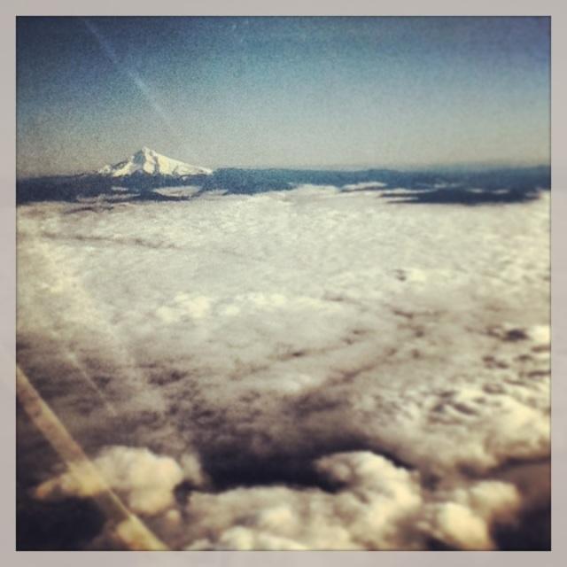 Mount Saint Helen out D'Arcy, Alex & Sarah's window.