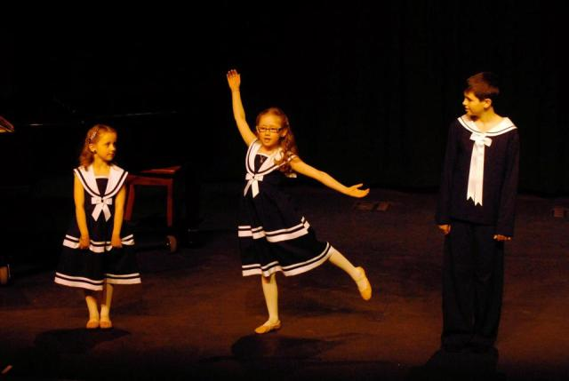 """Alex, Sarah, and Olivia perform """"So Long; farewell"""" at the Truro Music Festival"""