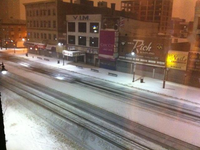 Snow in Newark