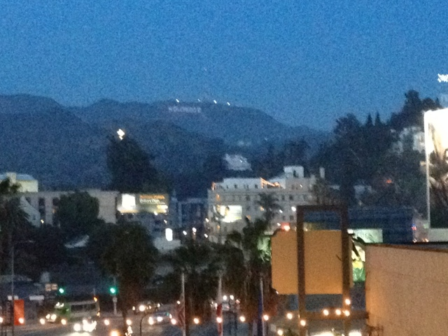 View of the Hollywood sign from the observatory