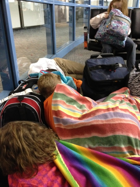 We can nap anywhere - except Sarah the nighthawk!!