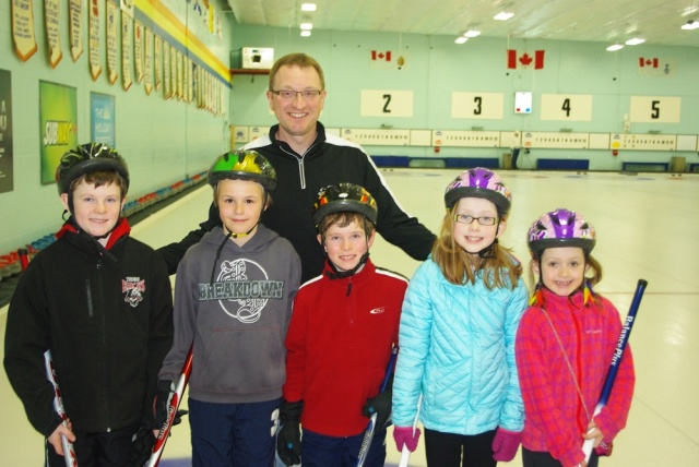 Team Hennigar - all younger siblings ofcurlers at the Truro Club.