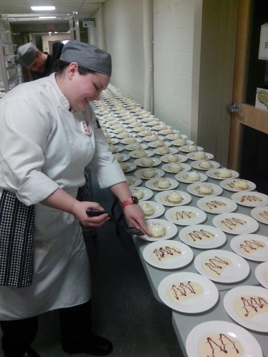 Plating 300 desserts