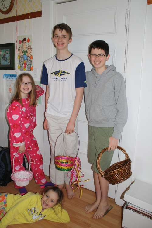 About to unlock the door and begin the egg hunt!