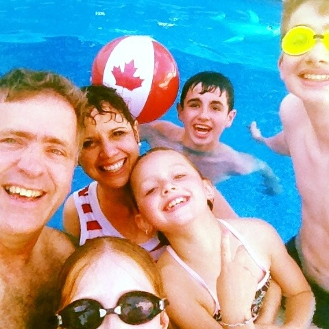 Epic photo of Summer 2015? Perhaps. Canada Day fun in the pool together.
