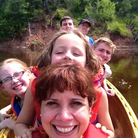 The 2015 McDonah Family canoe photo