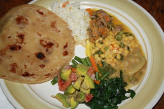 Delicious traditional East African meal. I can still taste the delicious curried lentals