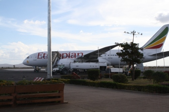 Walking to board the Dreamliner to Ethiopia