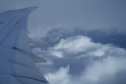 The clouds at take-off were beautiful!