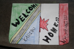 Welcome Home sign from Olivia